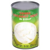 Young coconut meat in syrup...