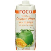 Coconut water with mango...
