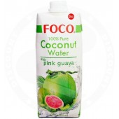 Coconut water with guava...