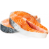 Fish salmon steaks FROZEN 1kg