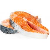 Fish salmon steaks FROZEN 1kg