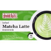 Instant matcha latte drink...