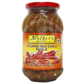 Red chilli stuffed pickle...