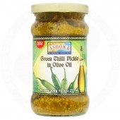 Green chilli pickle in...